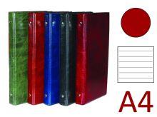 KARTON P+P Kroužkový záznamník A4, XEPTER, 4 kroužky, náplň 100 listů - červená lesk