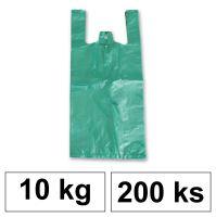 HDPE Mikrotenové tašky v bloku 10 kg - 11 µm - [200 ks] - zelené