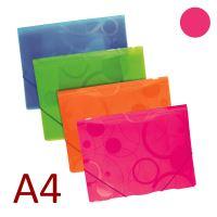 KARTON P+P 3 klopá složka A4 PP s gumou NEO COLORI - růžová