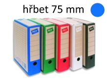 HIT OFFICE Archivační krabice BOARD COLOUR A4, hřbet 7,5 cm - modrá