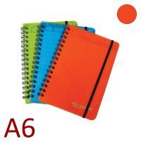 KARTON P+P Kroužkový blok A6, NEO COLORI, linkovaný - oranžový [70 listů]