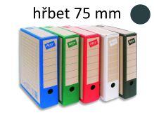 HIT OFFICE Archivační krabice BOARD COLOUR A4, hřbet 7,5 cm - černá