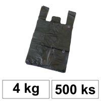 HDPE Mikrotenové tašky v bloku 4 kg - 8 µm - [500 ks] - černé
