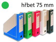HIT OFFICE Archivní box BOARD Colour A4, hřbet 7,5 cm - zelený
