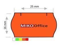 Etikety cenové CONTACT - oblé, 25 x 16 mm - oranžové signální