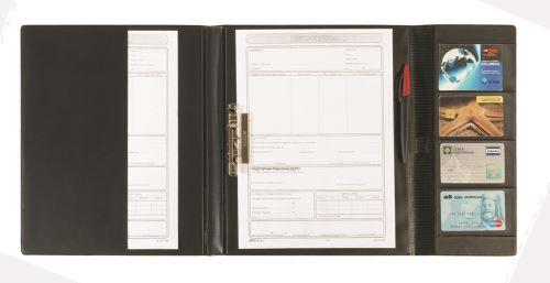 KARTON P+P Složky pro řidiče A4 s rychlosvorkou plastik - černá