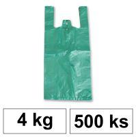 HDPE Mikrotenové tašky v bloku 4 kg - 8 µm - [500 ks] - zelené