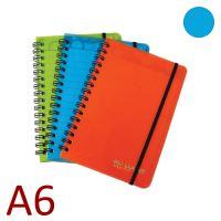 KARTON P+P Kroužkový blok A6, NEO COLORI, linkovaný - modrý [70 listů]