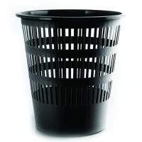 DONAU Odpadkový koš, perforovaný, PP, 12 l - černý