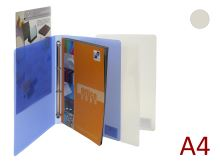 KARTON P+P Pořadač A4/15 PP 4 kroužkový, hřbet 20 mm, prezentační Opaline - čirý