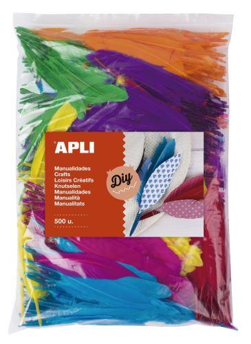 APLI Peříčka indiánská - JUMBO PACK - mix barev - [500 ks]