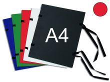 HIT OFFICE Spisová deska s tkanicí A4 - červená