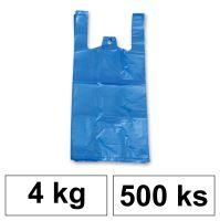 HDPE Mikrotenové tašky v bloku 4 kg - 8 µm - [500 ks] - modré
