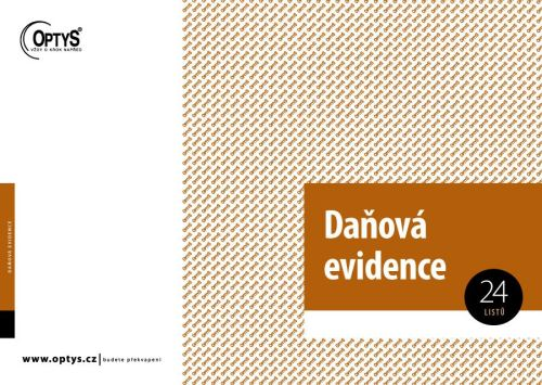 OPTYS 1001 Daňová evidence s klopou - A4