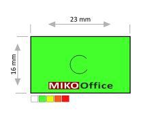 Etikety cenové MOTEX 23 x 16 mm - zelené signální