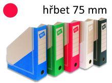 HIT OFFICE Archivní box BOARD Colour A4, hřbet 7,5 cm - červený