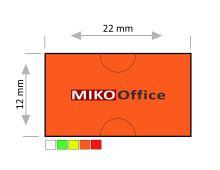 Etikety cenové COLA PLY 22 x 12 mm - oranžové signální