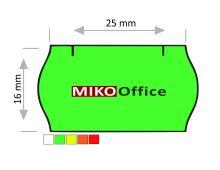 Etikety cenové CONTACT - oblé, 25 x 16 mm - zelené signální