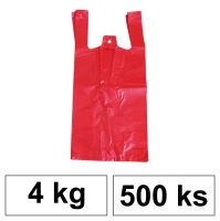 HDPE Mikrotenové tašky v bloku 4 kg - 8 µm - [500 ks] - červené