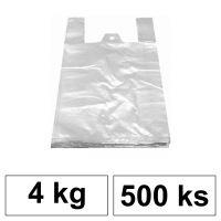 HDPE Mikrotenové tašky v bloku 4 kg - 8 µm - [500 ks] - bílé