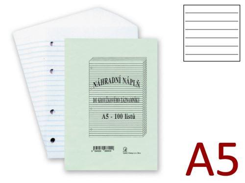 HIT OFFICE Náplň do záznamníku A5 - linkovaná - [100 listů]