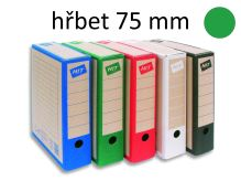 HIT OFFICE Archivační krabice BOARD COLOUR A4, hřbet 7,5 cm - zelená