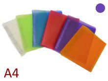 Pořadač A4 PP 4 kroužkový, hřbet 35 mm, D 20 Opaline - fialový